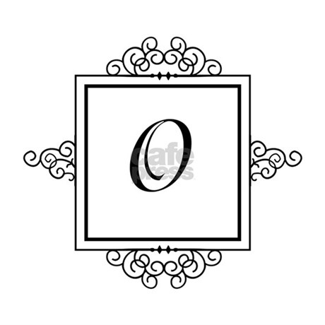 Fancy letter O monogram Picture Frame by Admin_CP49789583