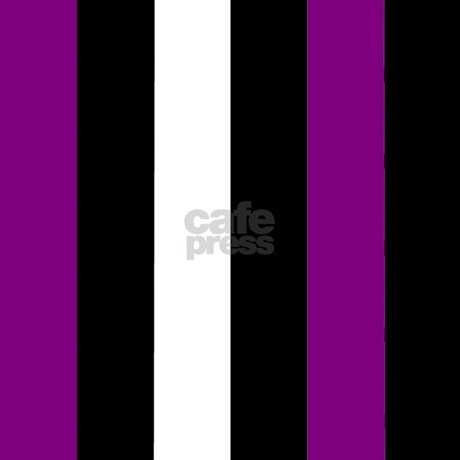 Purple Black And White Stripes Shower Curtain By Coolcutepatterns