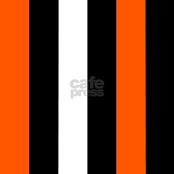Vertical Stripes Orange And White Shower Curtains Vertical Stripes Orange A