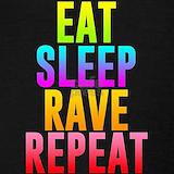 Eat sleep rave repeat Tank Tops