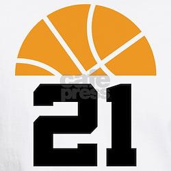 Basketball Number 21 Player Gift Shirt