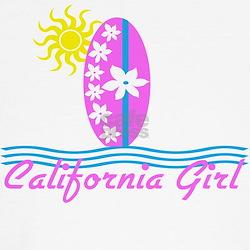 California Girl Pink Surfboard Sun T
