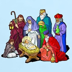 Christmas_nativity_scene.png T-Shirt