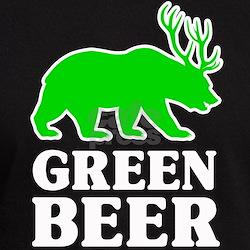 Bear/Deer Green Beer T-Shirt