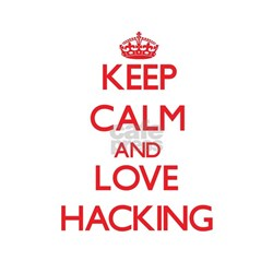 Keep calm and love Hacking T-Shirt