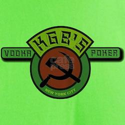KGB's Poker & Vodka Electric Lime T-Shirt