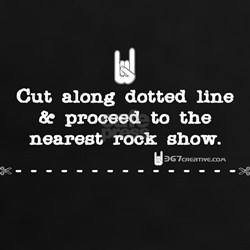 Cut on dotted line & proceed to rock show Tee
