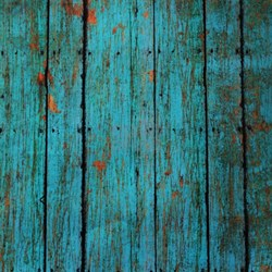 Teal Nailed Wood Fence Texture Shower Curtainheight