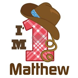 1st Birthday Cowboy Personalized Infant T-Shirt