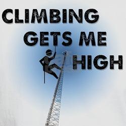 Climbing Gets Me High White Shirt