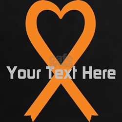 Personalized Orange Ribbon He Tee