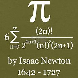 Pi by Sir Isaac Newton T-Shirt