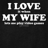 I love my wife video games Sweatshirts & Hoodies