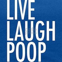 Live Laugh Poop Maternity Tank Top