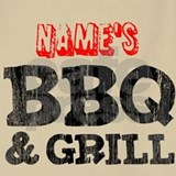 Name bbq and grill apron Aprons