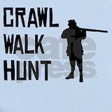 Crawl walk hunt Baby Bodysuits