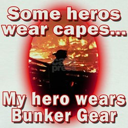 Firefighter hero in bunker gear T