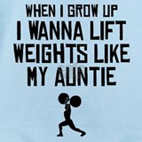 Lift weights like my auntie Baby Bodysuits