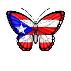 Puerto Rican Flag Butterfly T-Shirt