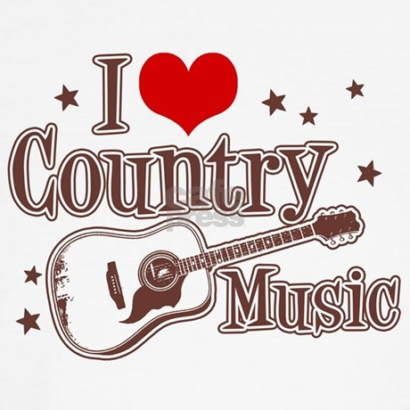 I Love Country Music Throw Pillow By Niftetees