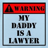 Cute daddy is a lawyer Baby Bodysuits