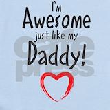 Awesome like daddy Baby Bodysuits