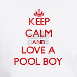 Keep Calm and Love a Pool Boy T-Shirt