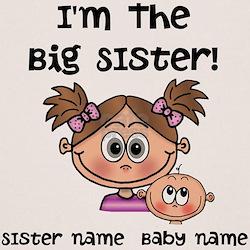 Big Sister 1 (brown) - Customize! T-Shirt