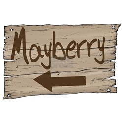 Vintage Mayberry Sign Long Sleeve Maternity T-Shir