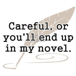 Careful, or Youll End Up In My Novel Writer T-Shir