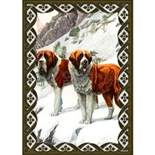 Saint Bernard Dog Christmas Card