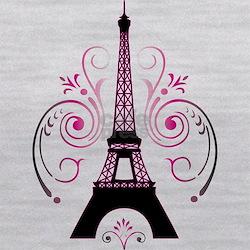 Eiffel Tower Gradient Swirl Maternity Tank Top