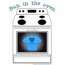 Blue Bun in the Oven White Shirt