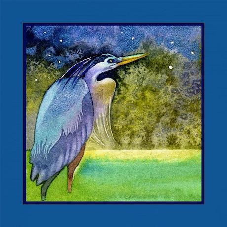 Blue Heron Throw Pillows : Beautiful Blue Heron Throw Pillow by ellenmorrowarts