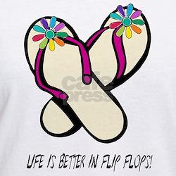 Flip Flops Flowers Multi T-Shirt