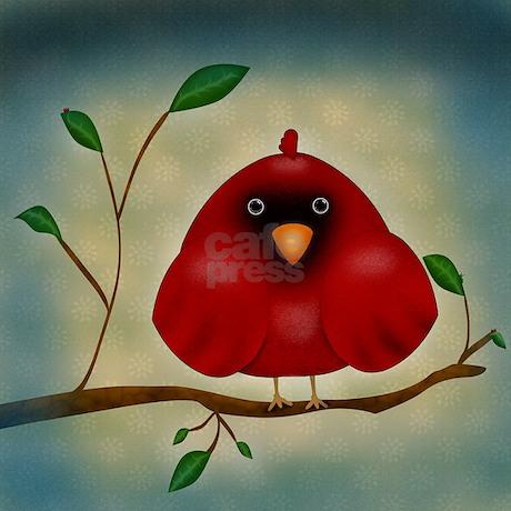 Red Bird Throw Pillow : Red Bird Cardinal Woven Throw Pillow by MagicGardenDesigns