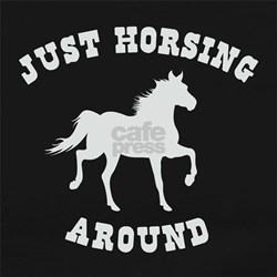 Just Horsing Around Horse Long Sleeve Maternity T-