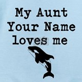 Aunt whale Baby Bodysuits