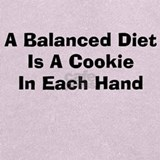 A balanced diet is a cookie in each hand sweatshirt Sweatshirts & Hoodies