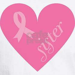 Cute Breast cancer pink heart ribbon Shirt