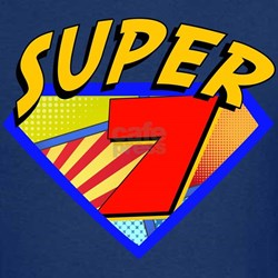 Super Hero 7th Birthday T