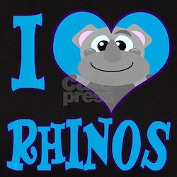 I Love (Heart) Rhinos Tee