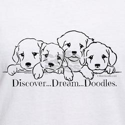Discover Dream Doodle V Neck Woman's T-Shirt