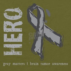 Hero Grey Ribbon for Brain Tumor Awareness T-Shirt