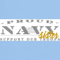 Proud Navy Sister (gold) T-Shirt