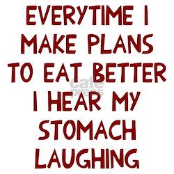 Hear stomach laughin Long Sleeve Maternity T-Shirt