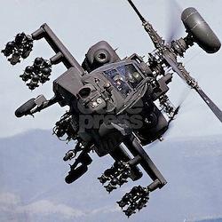 Apache Attack AH-64A/D White Army T-Shirt Gift
