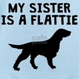 My sister is a flat coat Baby Bodysuits