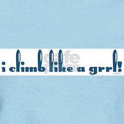 I climb like a grrl! Women's Light Color Tee