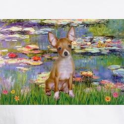 Monet's Lilies 2 & Chihuahua Shirt